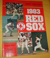 1983 Boston Red Sox vs. California Angels Souvenir Program