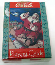 COCA-COLA Playing Cards 1992 #334 SANTA CLAUS Helicopter Train Set NEW/SEALED