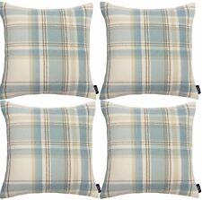 McAlister Textiles Heritage Tartan Check Duck Egg Blue Cushion Set of 2 & 4