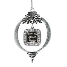 World's Best Spanish Teacher Classic Holiday Christmas Tree Ornament