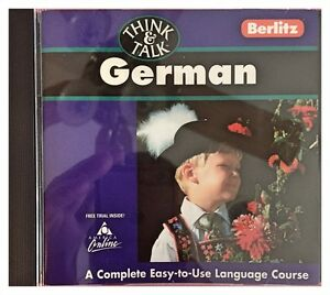 Berlitz Think & Talk German Pc Mac New XP