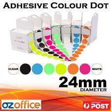 500 X Adhesive Colour Sticker Dot 24mm Round Spot Letter Sealer
