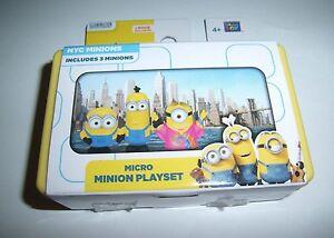 NYC Minions Micro Movie Playset 3 Figures Figurines Toys Color Scene New Minion