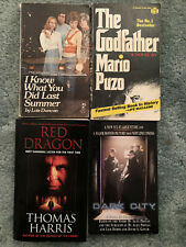 Books from Movies, lot of 4, Dark City, Godfather, Red Dragon, I Know What You