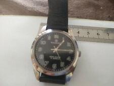 SANDOZ Parashock Reloj 17 Joya cara negra 1970s Reloj fantástico