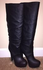 Colin Stuart Size 8 High Heel Black Boots
