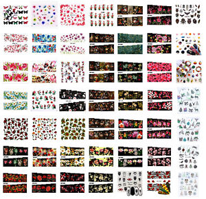 Nail Water Decals Stickers Manicure Nail Art Design Flowers Butterflies Cute,UK