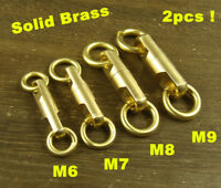 2pcs Solid Brass Swivel eye rotating connector for bag fob key chain craft use