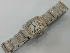 CARTIER TANK FRANCAISE 18k White Gold w/ Diamonds Ref. 2403 Ladies Watch NR!