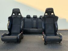 2008 Mitsubishi Evolution Lancer Evo X 10 Leather Seats Front and Rear Set *note