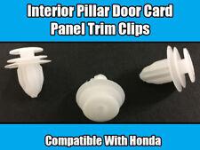 50x Clips For Honda Civic CRV Pillar Interior Panel Door Card Trim White Plastic