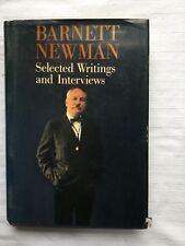 Barnett Newman: Selected Writings & Interviews 1st Ed HB w DJ