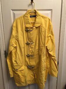 Polo Ralph Lauren Fireman Jacket NEW WITH TAGS Ralph Lauren Yellow Toggle Jacket