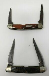Vintage CASE XX Muskrat Knives - Lot of 2