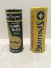 Vintage Tennis Ball Tin Cans 1980s