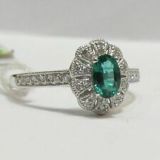 Diamond Solitaire Natural Oval Fine Gemstone Rings