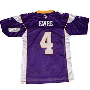 New Vikings #4 Brett Favre Purple NFL Reebok Authentic Jersey Youth L 14-16 NWT