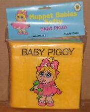 Vintage Muppet Babies Softy Book Baby Miss Piggy New Old Stock 1988