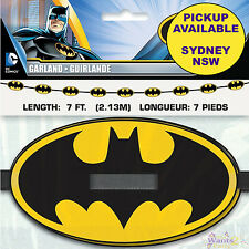 BATMAN PARTY SUPPLIES 2M EMBLEM PAPER GARLAND BANNER SUPERHERO DECORATION