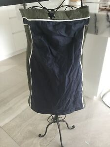 Morrissey Size 1 Long Navy Blue Green And White Skirt Pre Owned