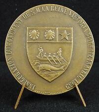 Médaille inauguration monument majesté Reine Victoria Queen Biarritz 1939 medal