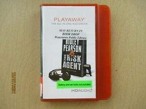 The Risk Agent by Ridley Pearson Unabridged Playaway Audio Book ex libris