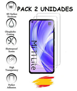 2X Protector Pantalla para XIAOMI Mi 11 LITE Vidrio templado cristal 2 Unidades