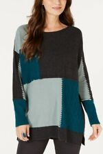 Style & Co NWT Patch Colorblocked Tunic Sweater Rare Emer Combo X- Large Emerald