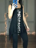Jessica Simpson Maternity Black & Silver Tank Top, Sequin Embellished, Women S
