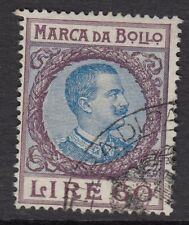 ITALIAN REVENUES : 1924 General Tax 60L purple & blue   BFT84  used