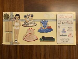 """NEW BETSY McCALL """"THE 50's WOODEN PAPER DOLLS"""