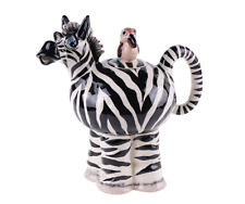 Zebra Collectable Teapot  Ceramic Approx 23cm High Boxed