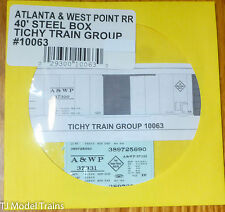 Tichy Train Group #10063 Decal for: Atlanta & West Point 40' Steel Single-Door B
