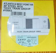 Tichy Train Group #10063 Decal for: Atlanta & West Point 40' Steel Single-Door B