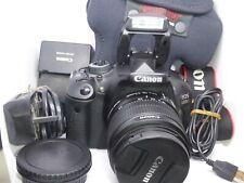 Canon EOS 600D DSLR + 18-55mm IS II Lens 32GB card 1454 Shots Bag MINT