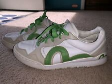 EVISU Low Skater Sneakers White/Green Mens 10