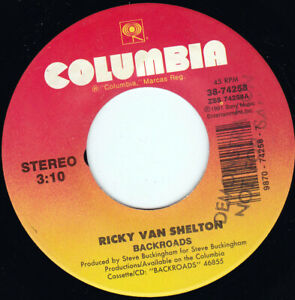 "RICKY VAN SHELTON - Backroads   7"" 45"