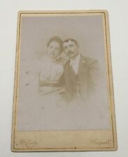 Vintage Conte Napoli Cabinet Card Photograph Married Couple Husband Wife Italy?