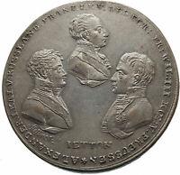 1814 FRANCE Allies Against NAPOLEON BONAPARTE Enter PARIS Antique Medal i75342