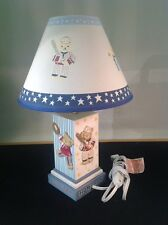 Newborn baby children's kids Sports Teddy Bear Dresser Lamp blue white stars