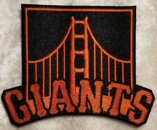 """San Francisco SF Giants 4"""" Black Iron On Embroidered Sleeve Patch ~FREE Ship~"""