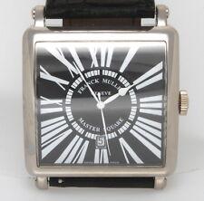 Authentic Franck Muller Master Square Men's 18K White Gold Watch 6000 KSC Box