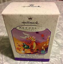 1999 Winnie the Pooh Tiggerific Easter Delivery Hallmark Keepsake Ornament NIB