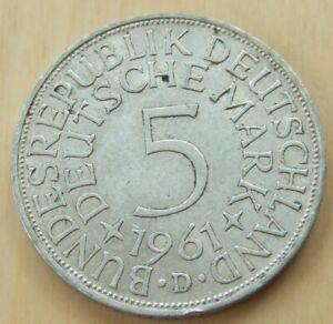 1951 German 5 mark silver coin