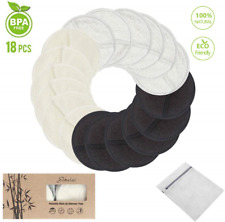 Makeup Remover Pads Reusable 3-Layer 3.15 inch Washable Natural Organic Bamboo