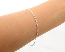 """925 Sterling Silver 7"""" 2mm Figaro Link Bracelet~ New"""
