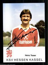 Heinz Traser Hessen Kassel AK 80er Jahre Original Signiert +A49423