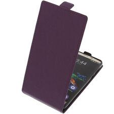Funda para Oukitel K6000 Pro protectora Teléfono Móvil con Tapa Carcasa Púrpura