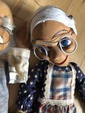 Charmantes Marionetten Paar Oma & Opa Holz geschnitzt bitte Beschreibung beachte