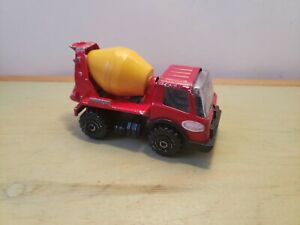 """Vintage Diecast Tonka Red Yellow Cement Mixer Truck - Made in Japan 3.5"""" Long"""